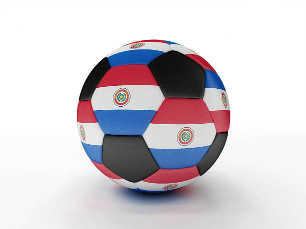 Paraguay soccer football ball stock photo