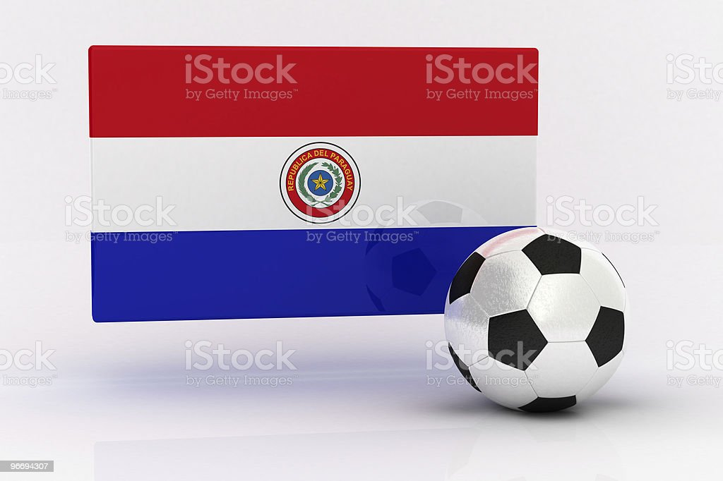 Paraguay Soccer royalty-free stock photo