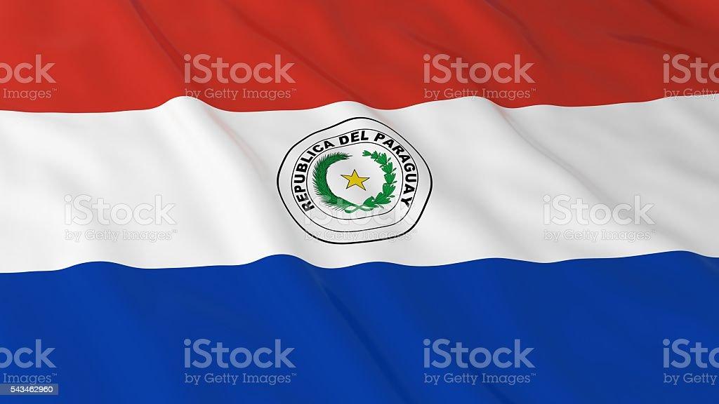 Paraguayan Flag HD Background - Flag of Paraguay 3D Illustration - foto de stock
