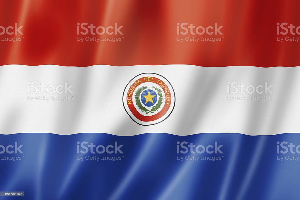 Bandera paraguaya - foto de stock