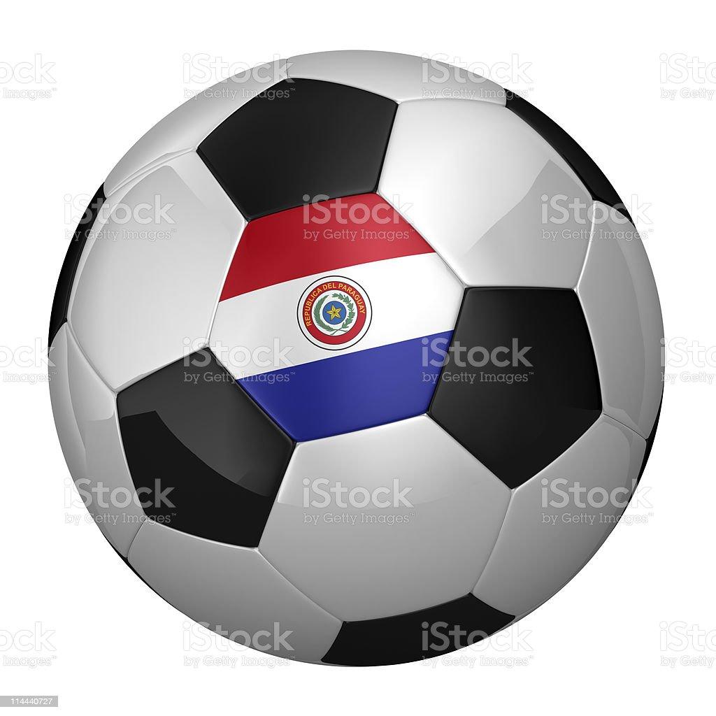 Paraguayo pelota de fútbol - foto de stock