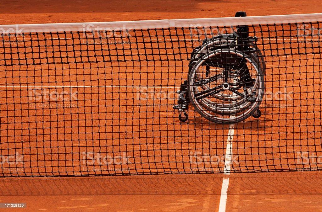paralimpic テニスのコンセプトます。クレイコート ストックフォト