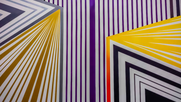 parallel, colorful lines in a maze pattern - vectors stock pictures, royalty-free photos & images