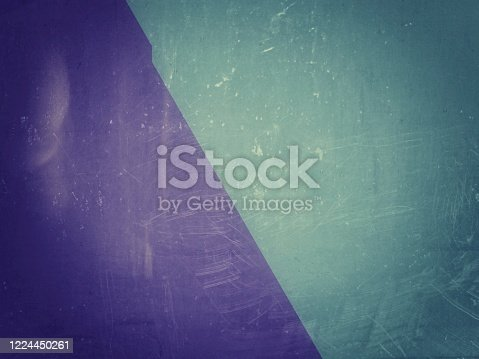 1207526097 istock photo Parallel green and blue grunge scratched cement wall texture background with space for text, word or product display, overlay. Banner, backdrop, celebration, anniversary, room, studio concept. 1224450261