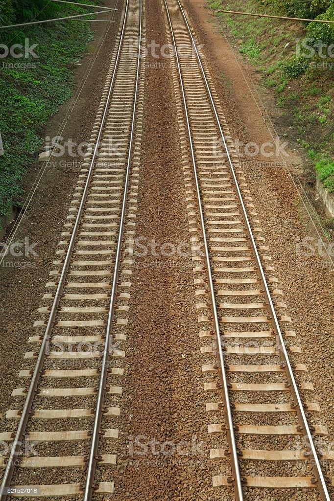 Parallel Railway Tracks stock photo