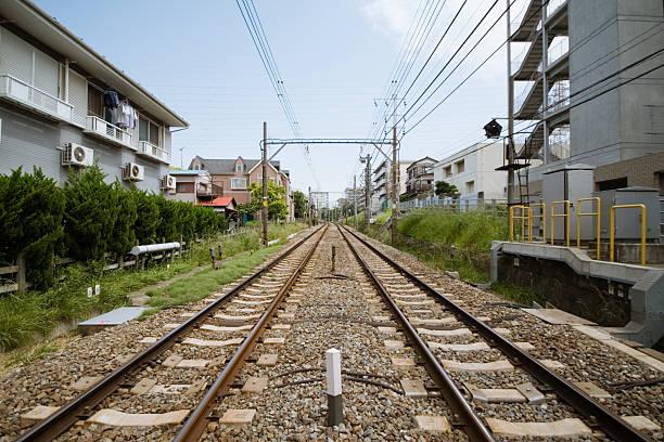 Parallel tracks stock photo