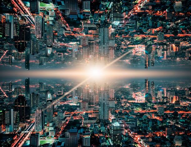 theorie van de parallelle universum wetenschap - parallel stockfoto's en -beelden