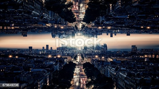 istock Parallel universe science theory 679649206