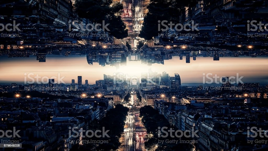 Parallel universe science theory stock photo