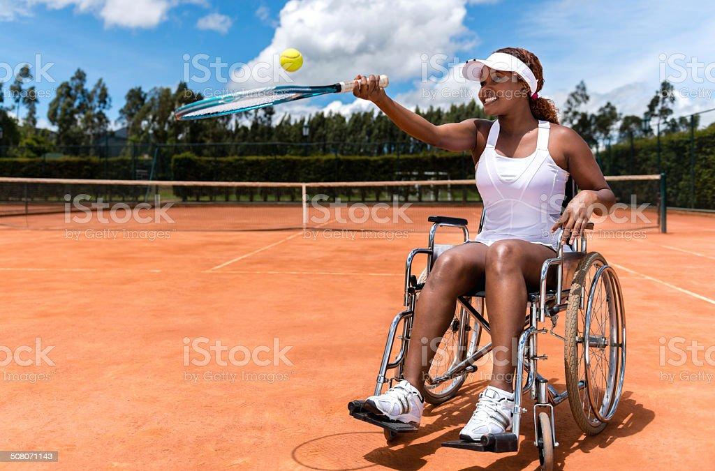 Paraolímpicos Jogador de tênis - foto de acervo