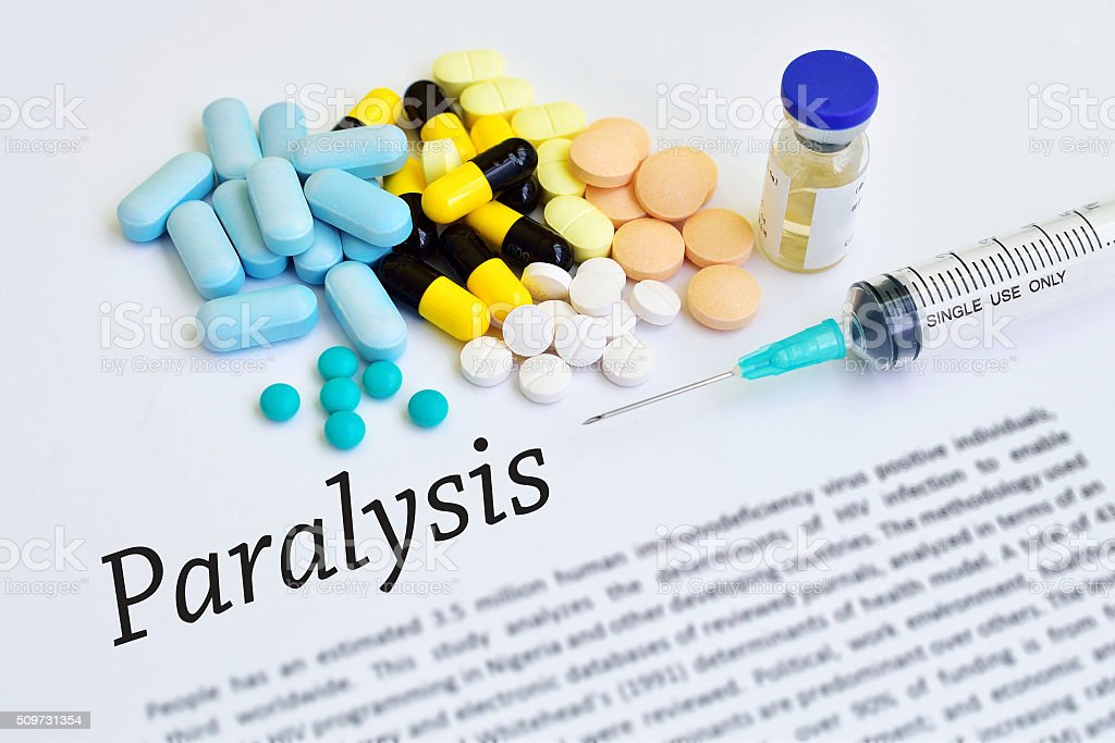 Paralysis treatment stock photo