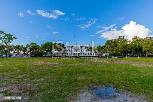 The Presidential Palace In The Capitol Of Suriname