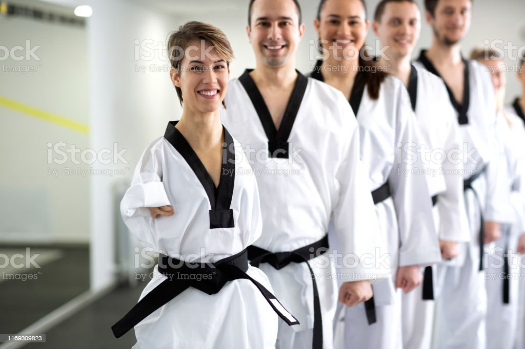 Para-martial art athlete competing in sport training like everyone...