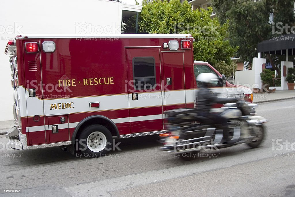 Paramedic 1 royalty-free stock photo