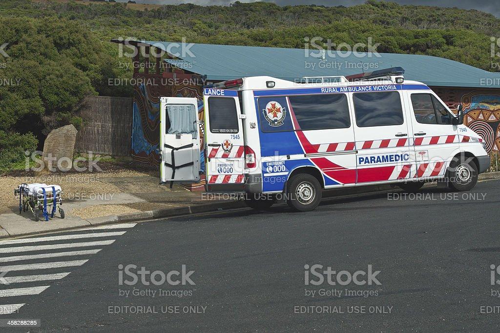 Paramedic car prepared stock photo