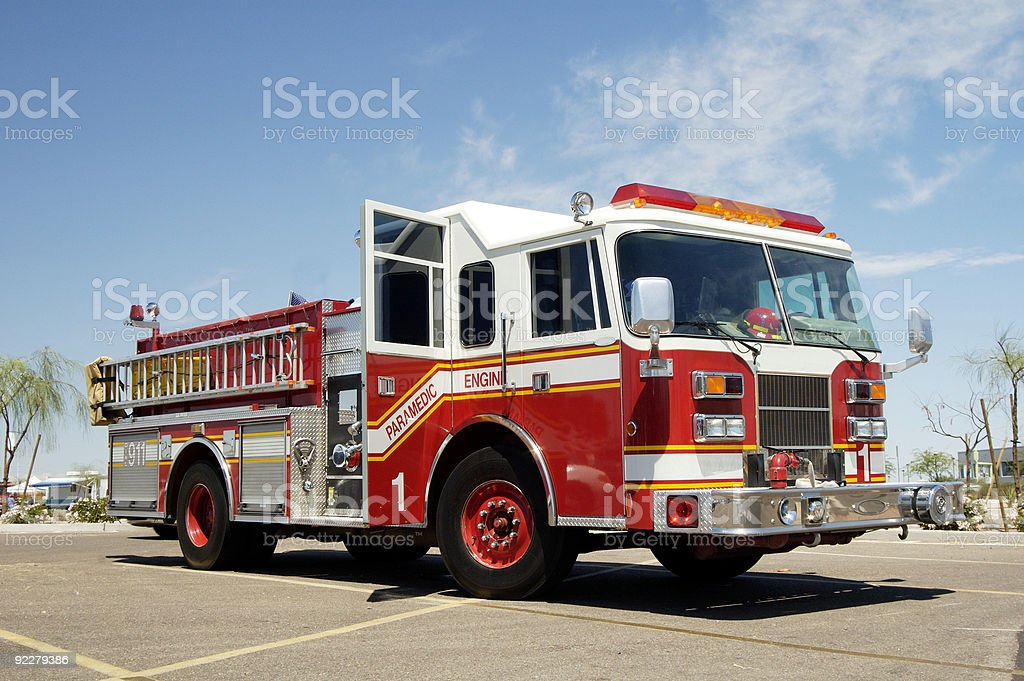 Paramedic engine bildbanksfoto