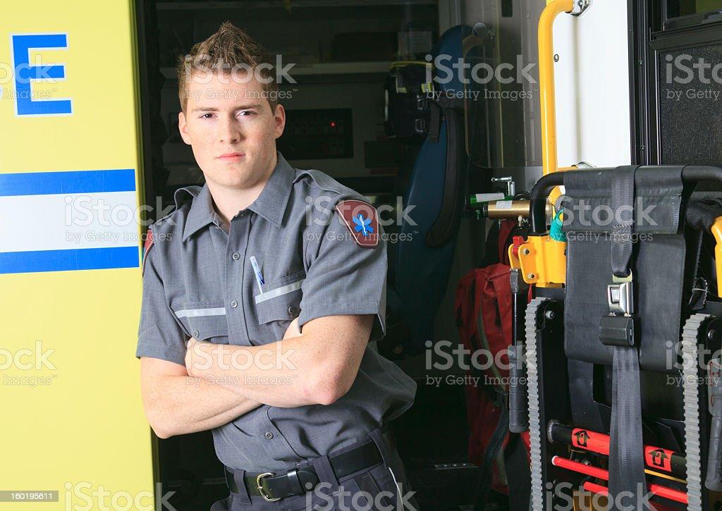 Paramedic Job - Employee Standing royalty-free stock photo