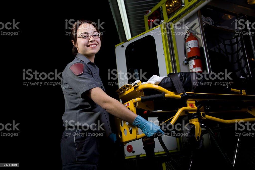 Paramedic Stretcher royalty-free stock photo