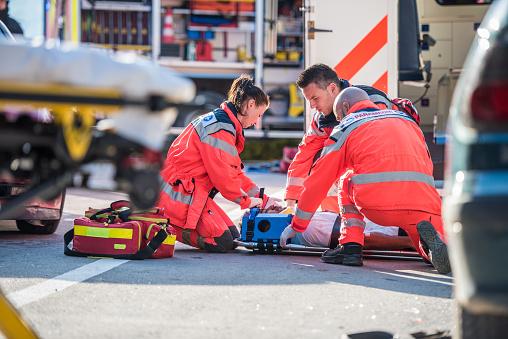 istock Paramedics providing first aid 841899546