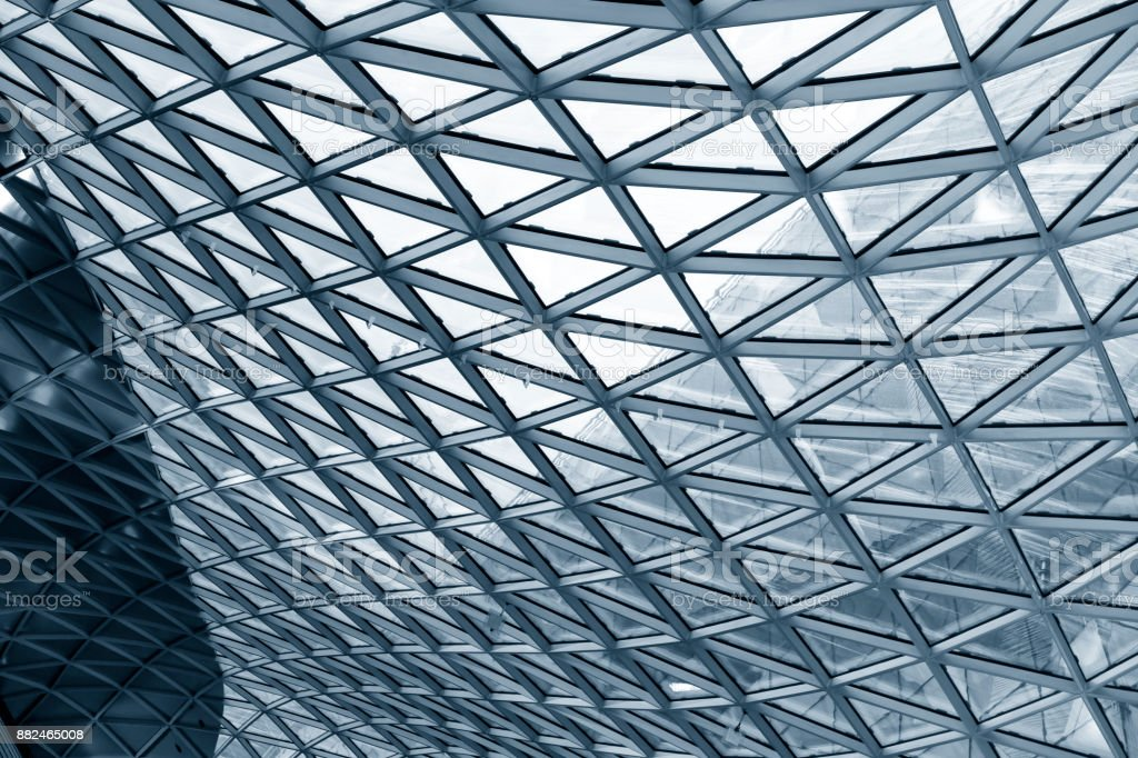 Parametric roof architecture in Frankfurt am Main, Germany stock photo