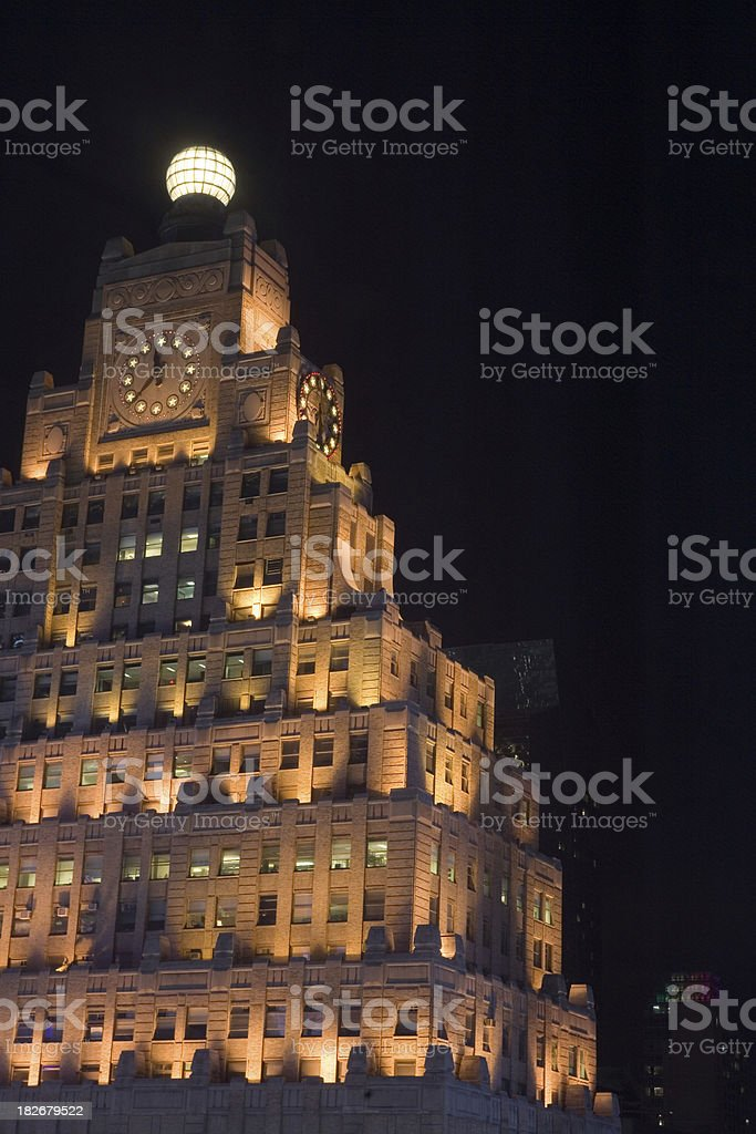 Paramount Building, Times Square, at Night royalty-free stock photo