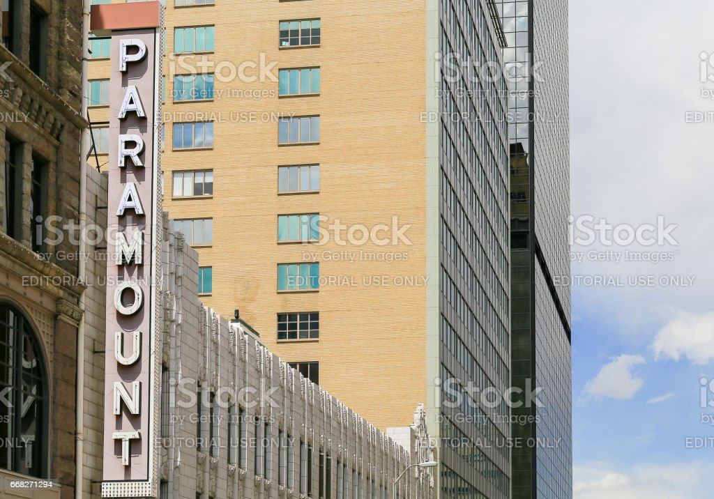 Paramount Cafe in Denver foto stock royalty-free