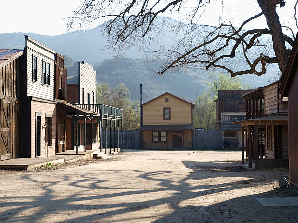 paramount ranch - western town stock photos and pictures