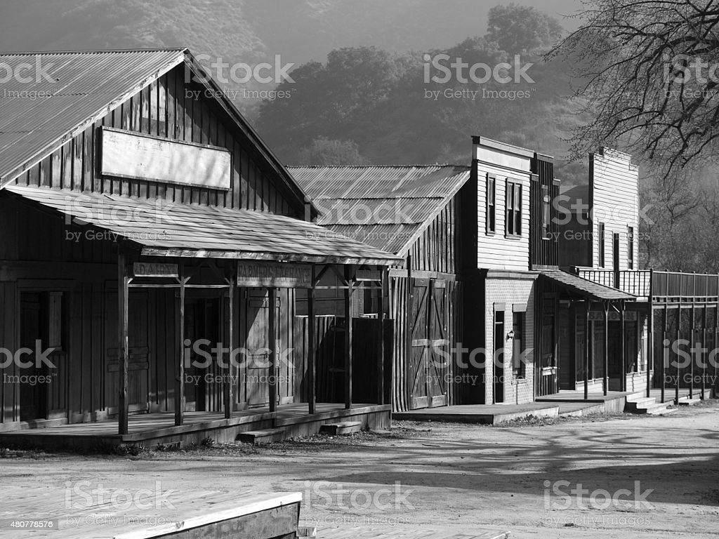 Paramount Ranch Western Town stock photo