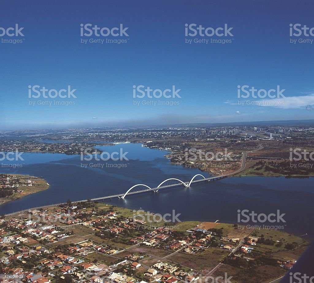 Paranoá Lake in Brasilia, the federal capital of Brazil stock photo