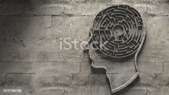 istock Paranoia schizophrenia psychopath and mental health disorders labyrinth abstract 1070766756