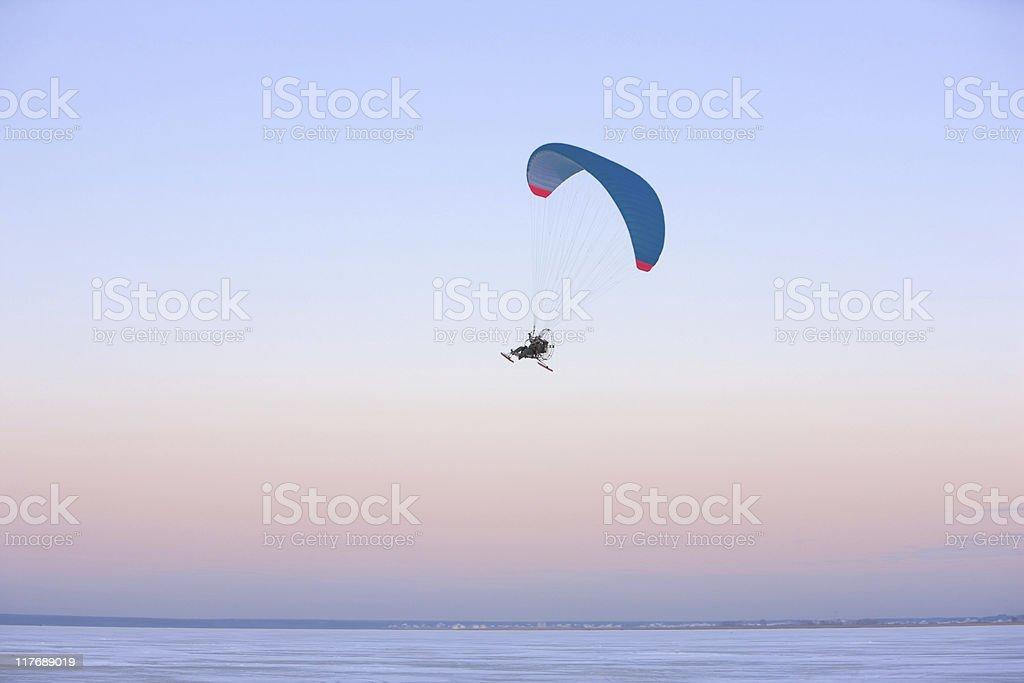 Paraplane flying royalty-free stock photo