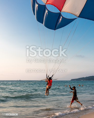 Parasailing is one of the leading watersports attraction in Phuket, Thailand