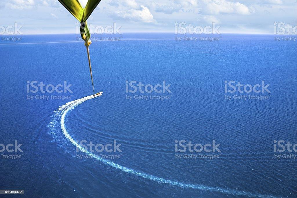 Parasailing. Vogelperspektive – Foto