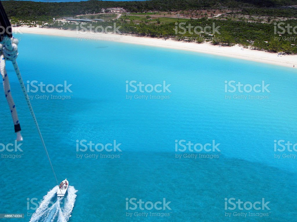 Parasailing in Summer stock photo