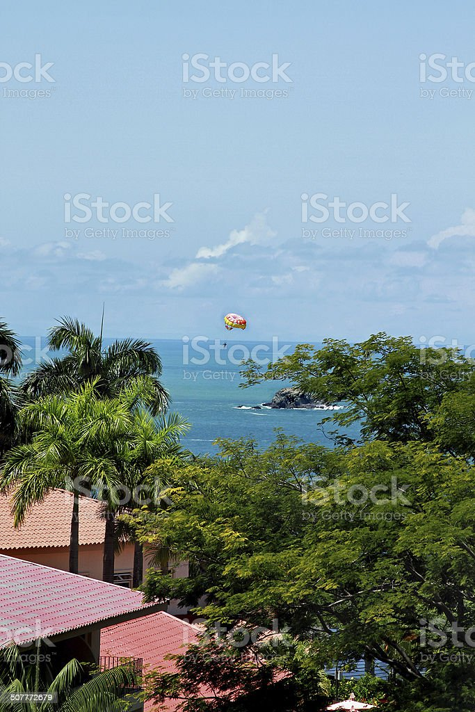 Parasailing in the Ocean stock photo