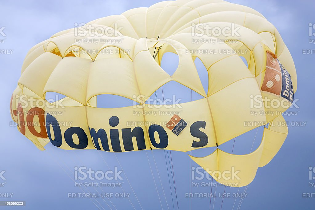 Parasailing on a Cloudy Day. stock photo