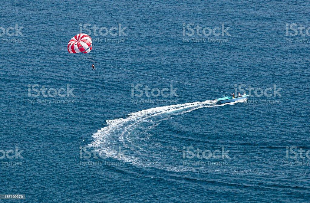 parasailing royalty-free stock photo