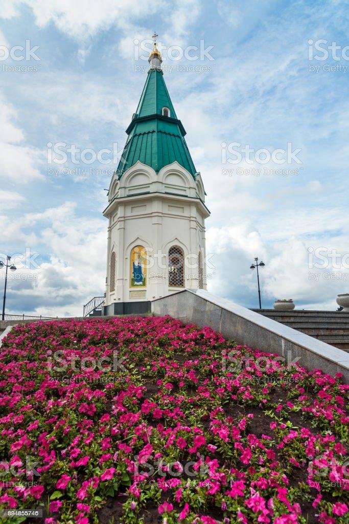 Paraskeva Pyatnitsa Chapel in Krasnoyarsk. Russia stock photo