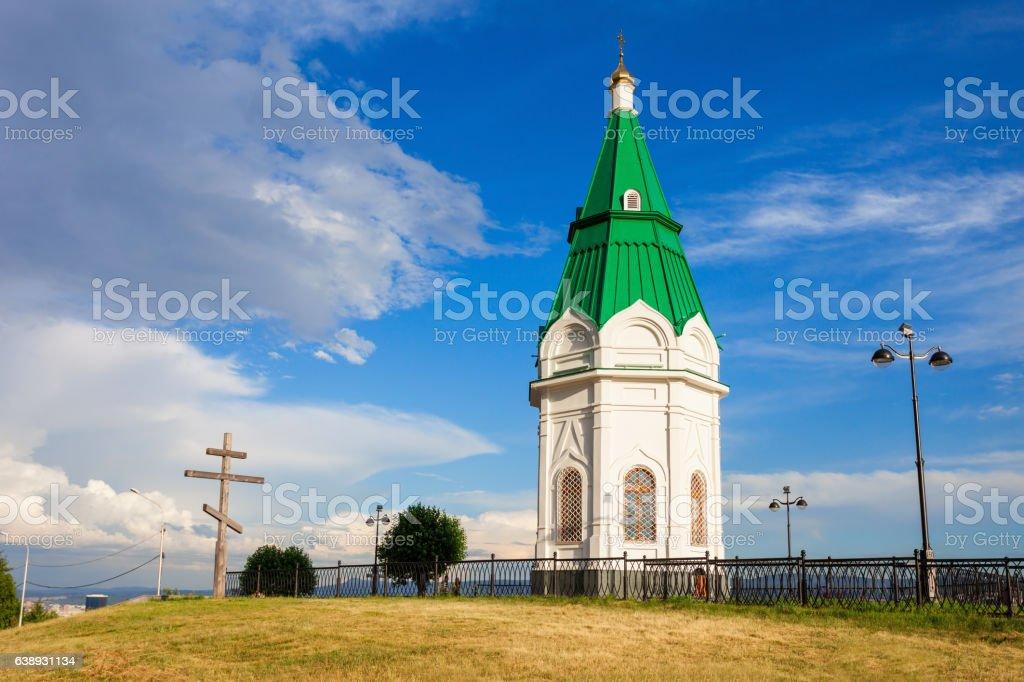 Paraskeva Pyatnitsa Chapel, Krasnoyarsk stock photo