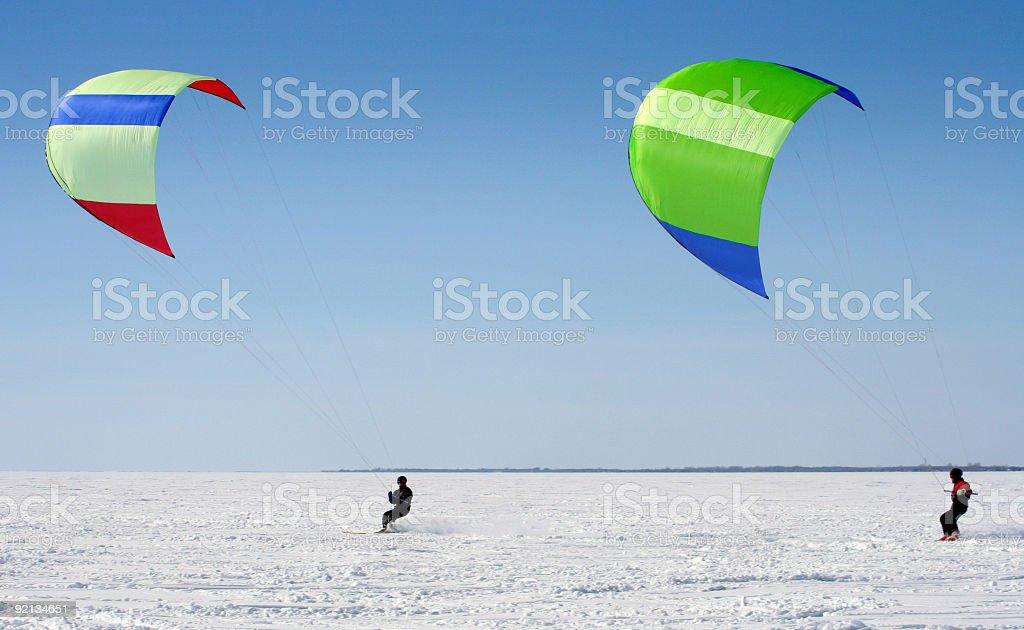 Para-ski royalty-free stock photo