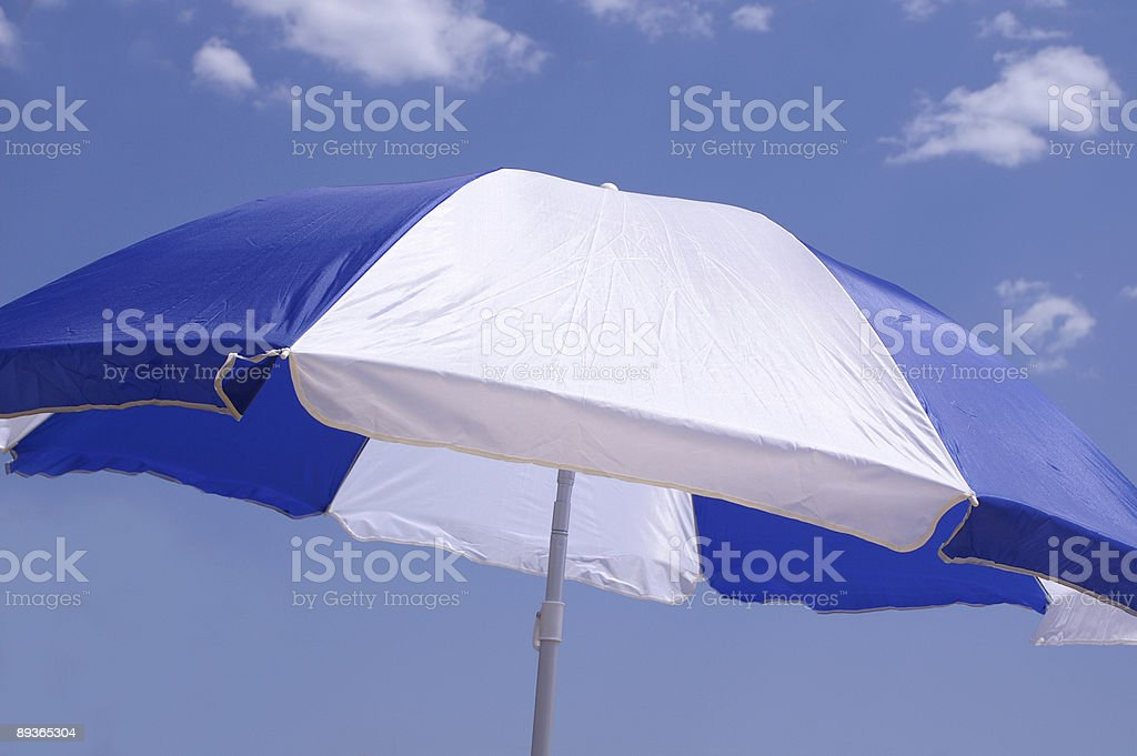 Parasol against blue sky royalty-free stock photo