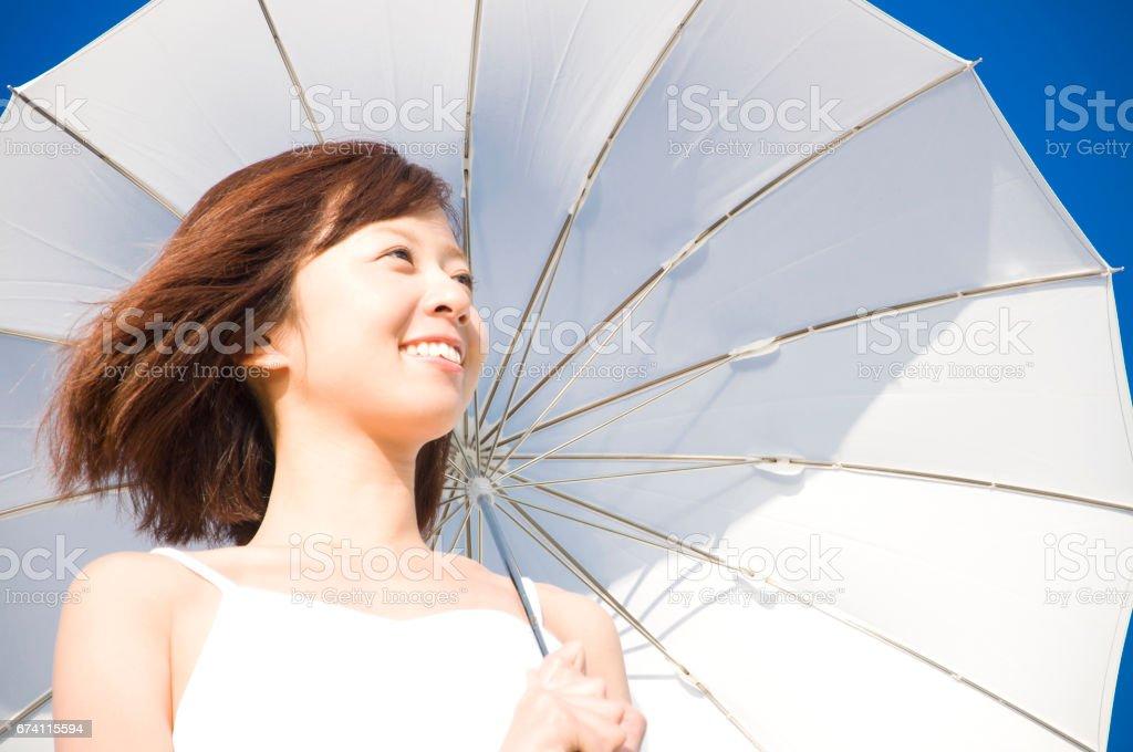 Parasol Lady royalty-free stock photo