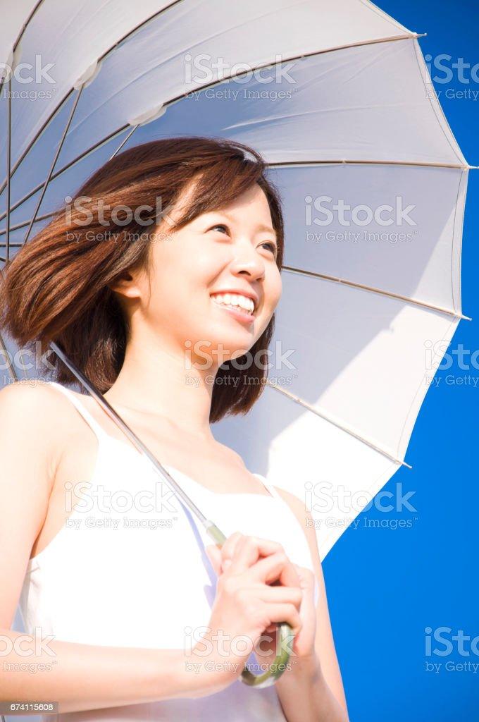 陽傘女士 免版稅 stock photo