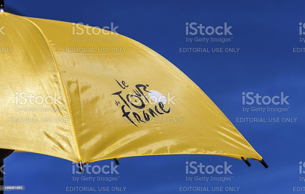 Parasol Tour de France stock photo