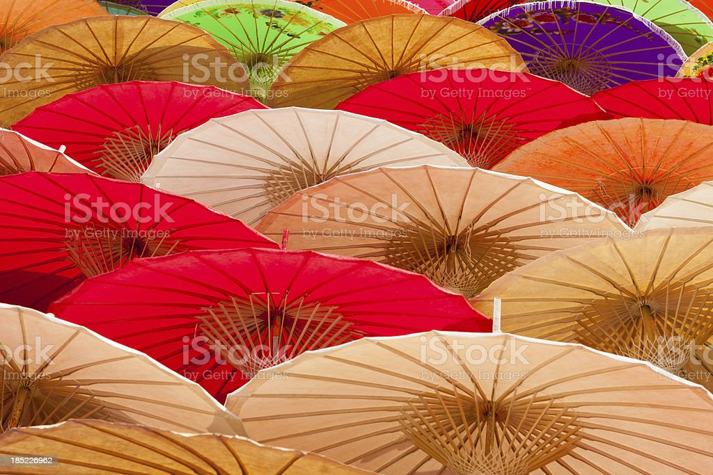 Parasols Drying in the Sun royalty-free stock photo