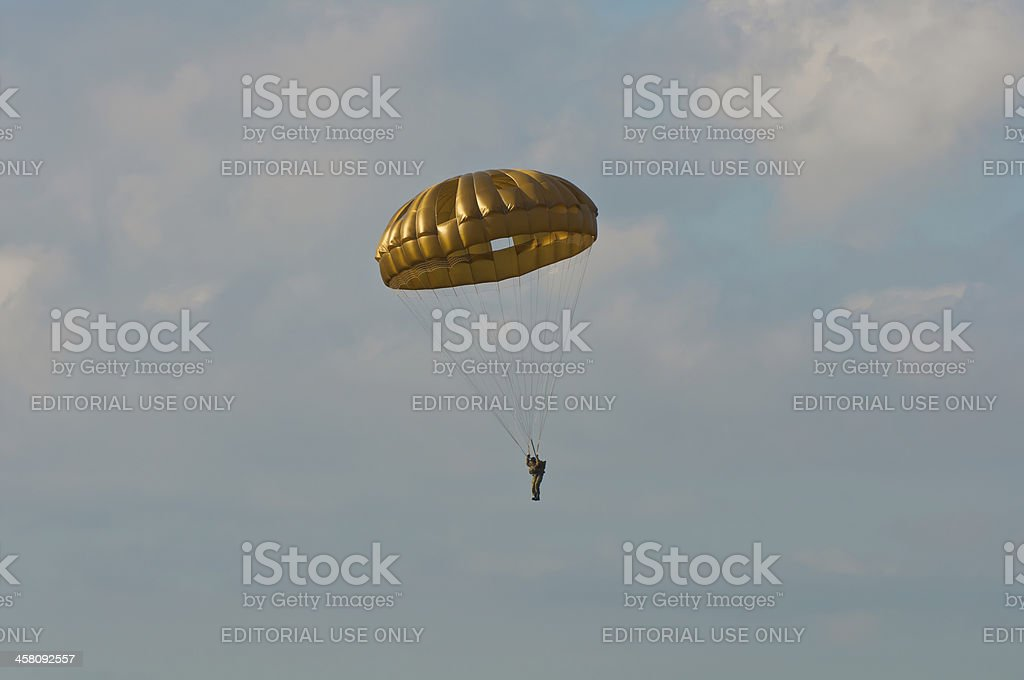Paratrooper royalty-free stock photo