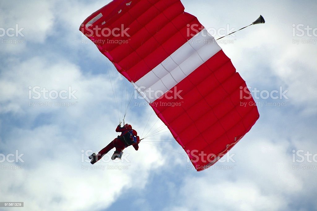 Paratroopers Descent royalty-free stock photo