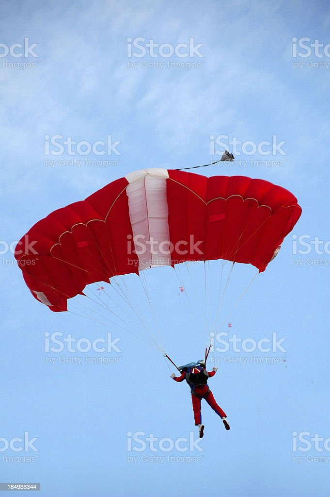 Paratroopers Descent Skillfully royalty-free stock photo