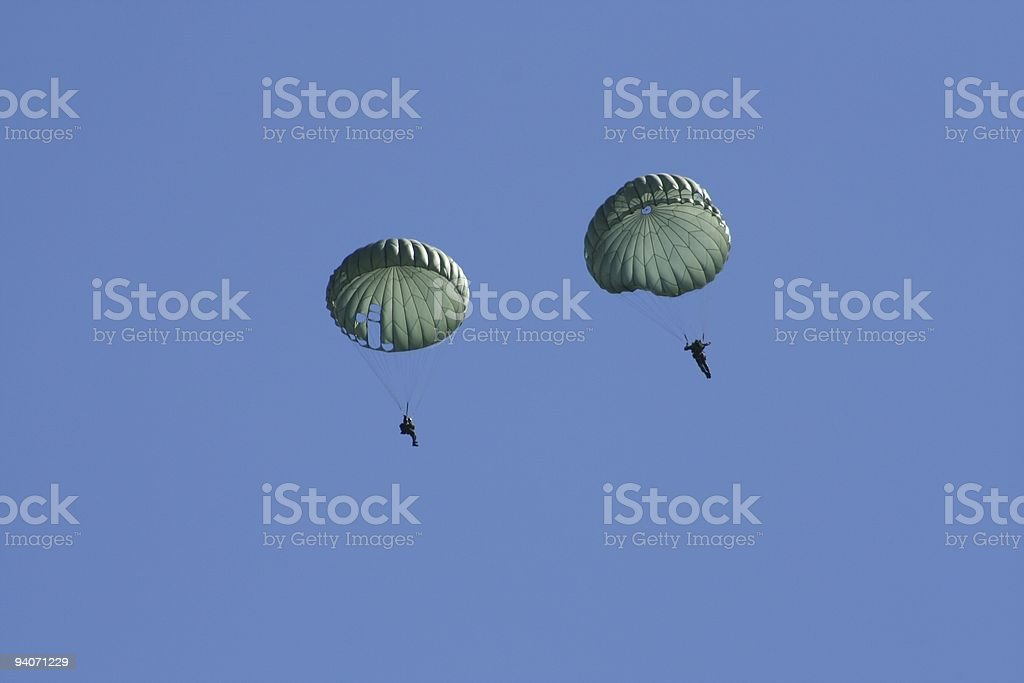 Paratroopers royalty-free stock photo
