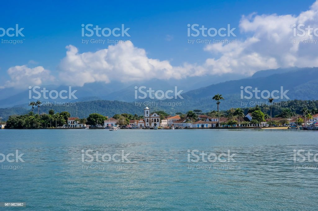 Paraty, beautiful and famous city of Rio de Janeiro stock photo